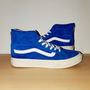 Vans Sk8 Hi Slim Zip (scotchgard) royal blue sz 7